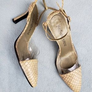 Vintage Yves Saint Laurent Python Sling Backs